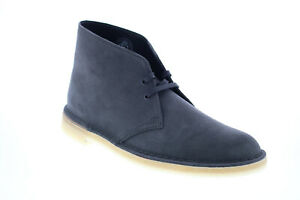 Clarks Desert Boot 26155482 Mens Blue Suede Lace Up Desert Boots