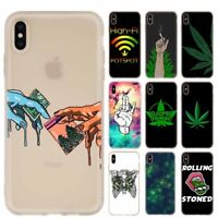 Abstractionism Art High Weed Luxury Silicone Soft Case iPhone 7 8 XS 11 Pro Max