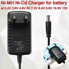 Black Ni-MH Ni-Cd Charger For Battery 2.4V 3.6V 4.8V 6V 7.2V 8.4V 9.6V 10.8V 12V