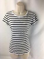 Caslon Womens T Shirt Size Small Black/White  Short Sleeve Top
