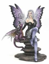 More details for fairy with dragon companion figurine fantasy fairies figure mythical sculpture