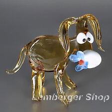 Personaggio Animale Asino di vetro fatto a mano vetro personaggio BEL REGALO 8 cm di lunghezza