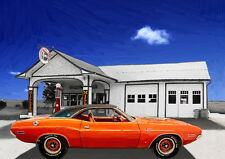 AUTOMOTIVE ART - DODGE CHALLENGER RT  - HAND FINISHED, LIMITED EDITION (25)