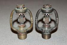 2 RARE Antique Vintage 1911 160 Degree Rockwood Double Hat Fire Sprinkler Heads