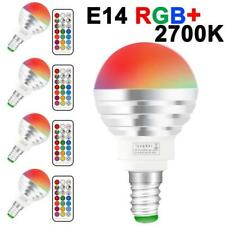Multi Colour Led Light Bulb 3W Rgb And White Rgbw E14 Lamps -4 Pack W/ Remote