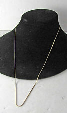 """Vintage 14K Yellow Gold Link Necklace Chain 24"""" Long"""