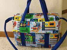 Thomas the tank train custom handmade EMIJANE Diaper Bag w/c pad free embroidery