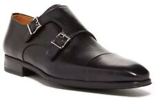NEW Magnanni Gaumet Black Leather Monk Strap Loafers Mens 13 Dress Shoes Spain!