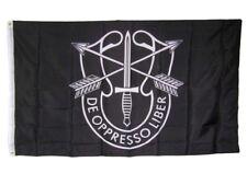 3x5 U.S. Army Special Forces De Oppresso Liber Black 150D Poly Flag 3'x5'