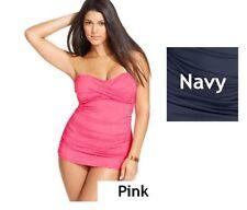 fc35218868e Anne Cole Signature Navy Blue Twist Front Swimdress Swimsuit 3x
