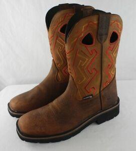 Wolverine Rancher Aztec Work Boots Men's Size 11 M W200112 Tan Bronzer