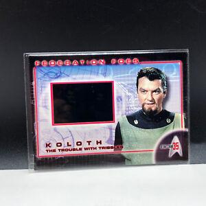 STAR TREK 35th ANNIVERSARY film cell insert card federation foes ff2 Koloth 2001