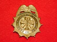 VINTAGE OBSOLETE JESSUP HOSE CO PENNSYLVANIA HONORARY CHIEF FIREMAN'S BADGE
