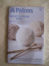 Patons Next Steps One Knitting Guide Book NEW Learn to Knit