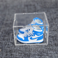 Mini 3D NIKE AJ1 Sneaker UNC KeyChain,Display Box,ShoeBox,Paper Bag hype-beast