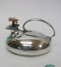Novelty Sterling Silver Oil Lamp Form Table Cigar Lighter Joseph Cook & Son 1911