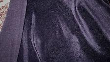 tissu velours ras polyester extensible col noir 50x150 cm