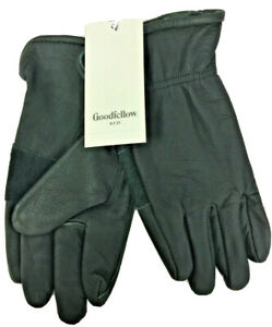 Goodfellow & Co. Men's Lined Leather Gloves, Green, M/L