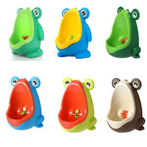 Kids Wall Mounted Hook Frog Potty Toilet Training Rack Vertical Urinal Trainer