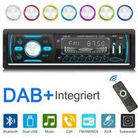 1 Din Car Radio Bluetooth Stereo MP3 Player AM/FM/USB/AUX/RDS/DAB+ Head Unit