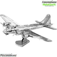 Metal Earth B-17 Flying Fortress Military Plane 3D DIY Model Building Kit Puzzle