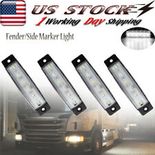 4X White Led Clearance Side Marker Lights For Truck Trailer Rv Bus Ford Jeep Suv