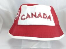 2004 Canadian Olympic Team Hat Adult M Canada Roots Bucket Hat Cap 100% Cotton