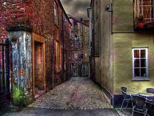 PHOTOGRAPH CITYSCAPE EXETER DEVON ENGLAND BACK ALLEY LANE PRINT POSTER MP3303A