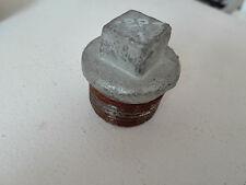Temperguss Gewindefitting Stopfen 32 mm AG 1 1/4 Zoll Endstopfen, Stahl verzinkt