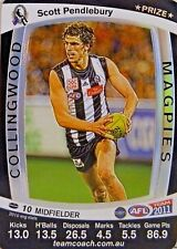 2011 VERY LIMITED SCOTT PENDLEBURY TEAMCOACH PRIZE COLLINGWOOD FOOTBALL CARD