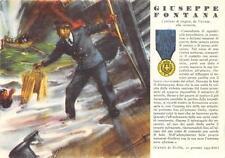 A4214) WW2 MARINA CANALE DI SICILA, M.O. GIUSEPPE FONTANA DA VICENZA.