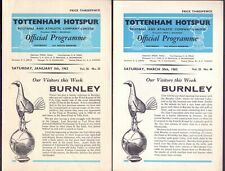 Nice lot of 16 Tottenham Hotspur programmes 1962-3-1966-7 all scanned   (RB1)