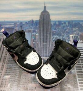 Nike Air Jordan 1 Mid SE White/Court Purple TD Toddler Size 6c BQ6933 105 New