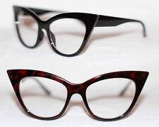 Cat Eye Nerd Brille Rockabilly Pinup 50er Jahre 50's RAR Klarglas Hornbrille 972