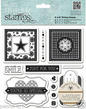"Papermania urban rubber stamp set 6x6"" 'from 'Craft collection pastels' range"