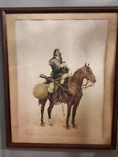 More details for edouard detaille print french cuirassier prussian war era framed 54cm x 43cm