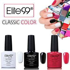 Elite99 Nagellack Farbgel Weiß Schwarz UV LED Gel Maniküre 3 Farben Set 7.3ml