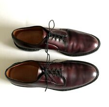 Allen Edmonds Leeds Derby Shoes Burgundy Shell Cordovan Men's Size 12 AA