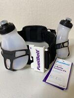 FuelBelt Helium 2 Bottle Hydration Belt Waist Belt Custom Fit Size Medium