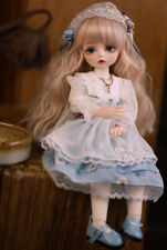 1/6 30cm BJD Girl Doll with Changeable Eyes Wigs Shoes Clothes Full Set Outfit