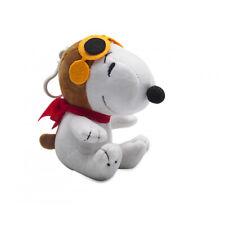 Snoopy Peluche 11cm Pilota Peanuts Cane Plush Morbido con Gancio Portachiavi