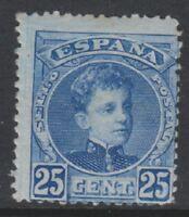 Spain - 1901/5, 25c Ultramarine stamp - L/M - SG 299b