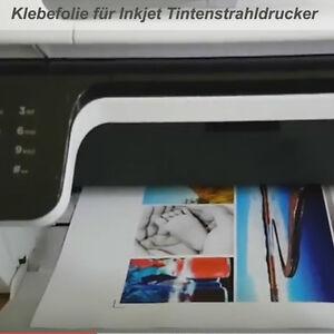 10 Stk Bedruckbare transparente Klebefolie für Inkjet Tintenstrahldrucker DINA4