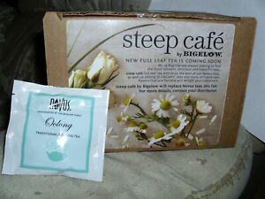 STEEP CAFE BY BIGELOW NEW FULL TEA NOVOS TEAS--ORGANIC----50 BAGS
