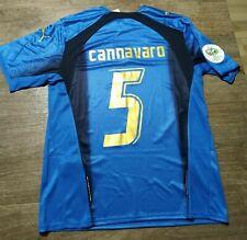 MAGLIA VINTAGE CALCIO CANNAVARO N°5 MONDIALE ITALIA 2006 TAGLIA M MANICA CORTA