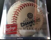 2016 CHICAGO CUBS WORLD SERIES CHAMPIONS BASEBALL RAWLINGS AUTHENTIC IN DISPLAY!
