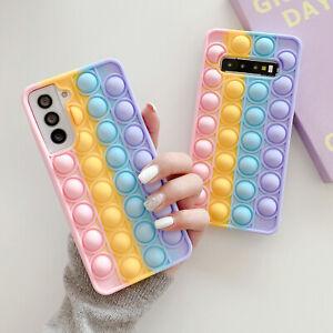 Pop Fidget Toys Push It Bubble Phone Case For Samsung S21 S20 S10 S9 Note20 10 9