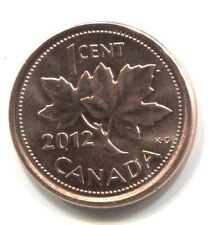 2012 Canadian Non-Magnetic 1 Cent Maple Leaf Penny Coin - Canada - Uncirculated