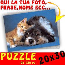 Puzzle foto A4 personalizzato con foto,testo,nome,logo ecc 30x20 -  gatto e cane