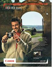 Publicité Advertising 058  2009   appareil photo Canon Power shot Sx 200 IS
